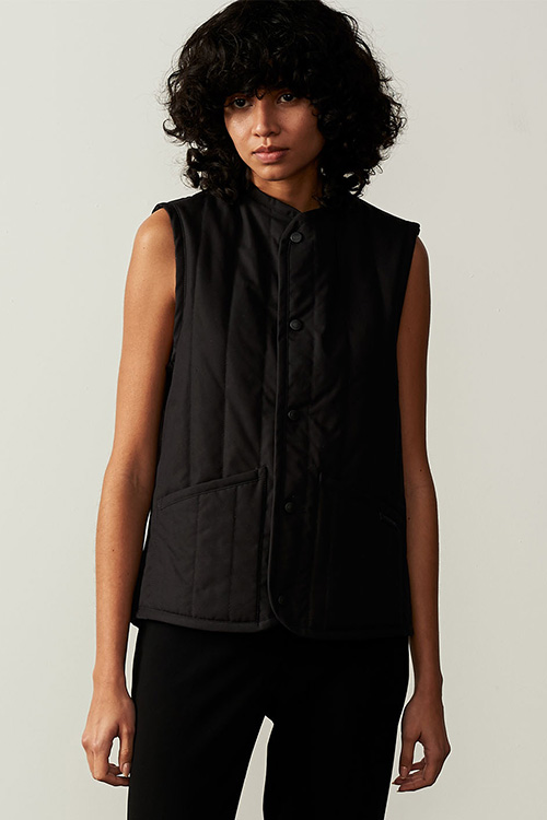 TOWEL LINED COLLARLESS GILET
